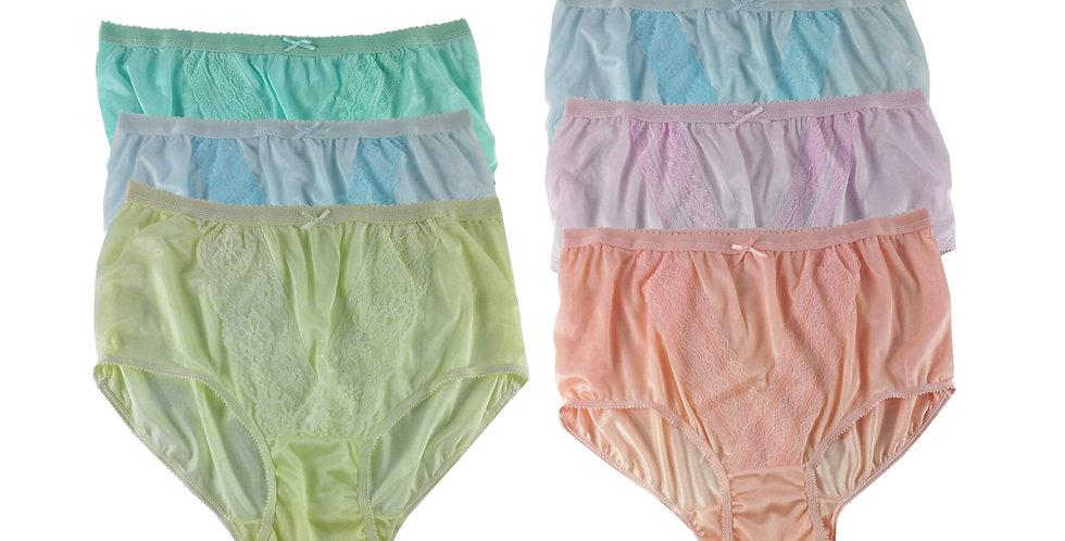 NLSG114 Lots 6 pcs Wholesale New Panties Granny Briefs Nylon Men Women
