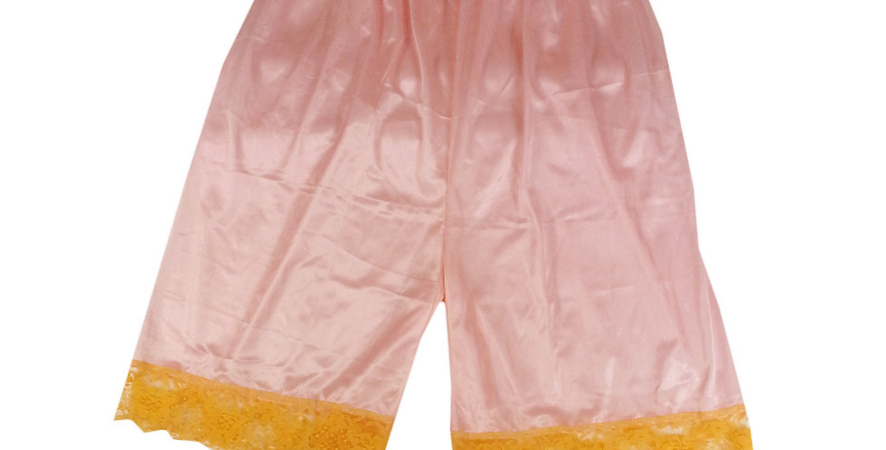 PTP08 orange Silky Nylon Pettipants Women Men Slips Lace Lingerie