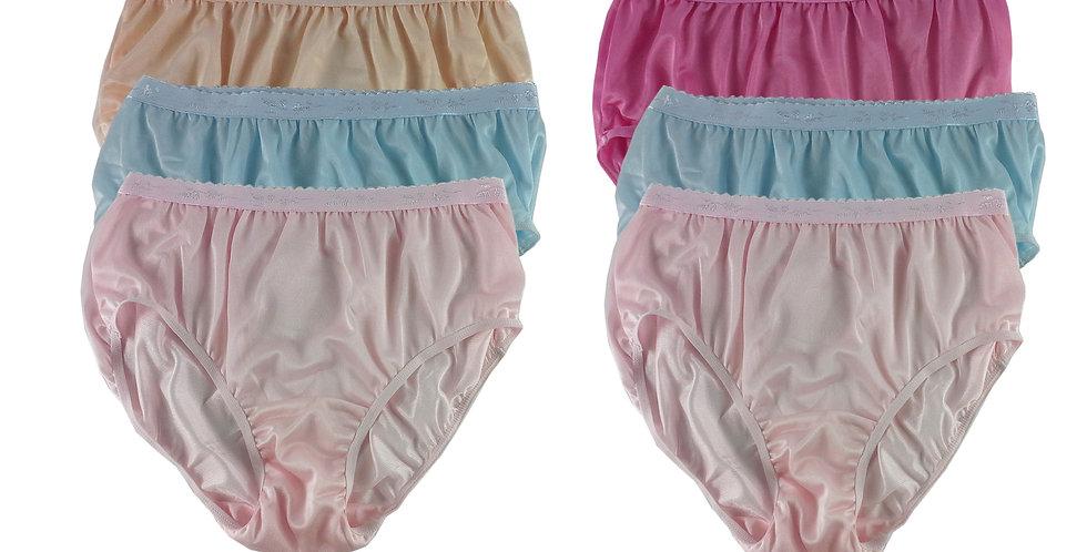 CKSL36 Lots 6 pcs Wholesale New Nylon Panties Women Undies Briefs