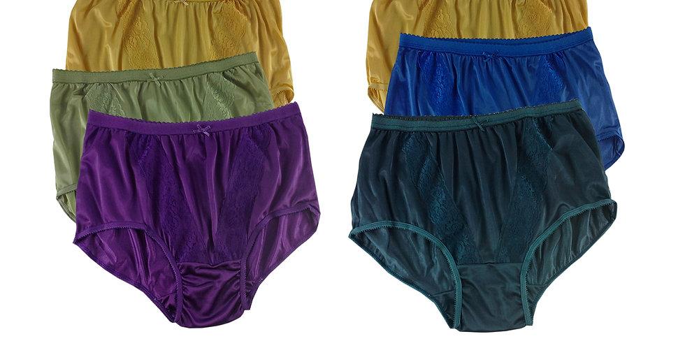 KJSJ52 Lots 6 pcs Wholesale New Panties Granny Briefs Nylon Men Women