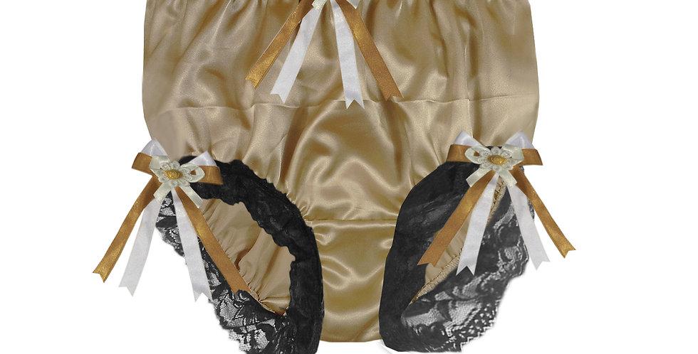 STPH18D38 Gold Brown New Satin Panties Women Men Briefs Knickers