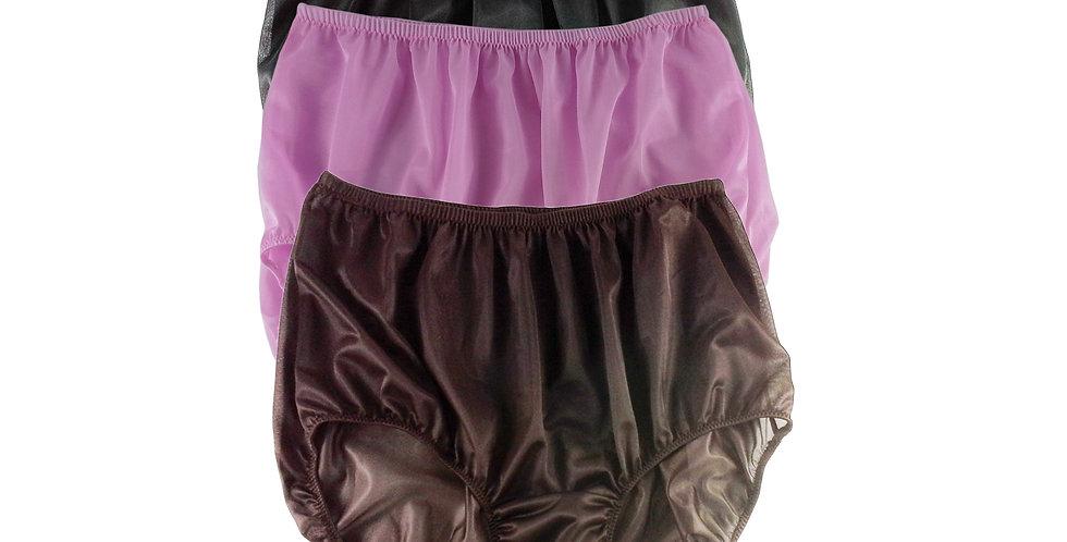 A17 Lots 3 pcs Wholesale Women New Panties Granny Briefs Nylon Knickers