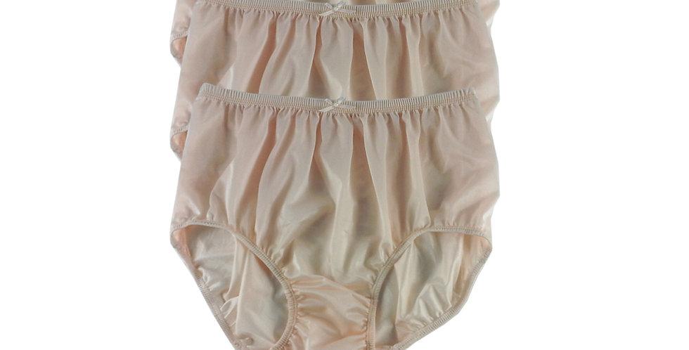 NQT02 fair orange Lot 3 pcs Wholesale New Panties Granny Briefs Nylon Men Women