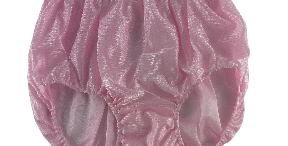 SF10 Pink Silky Nylon Panties Women Vintage Granny HI-CUTS Briefs