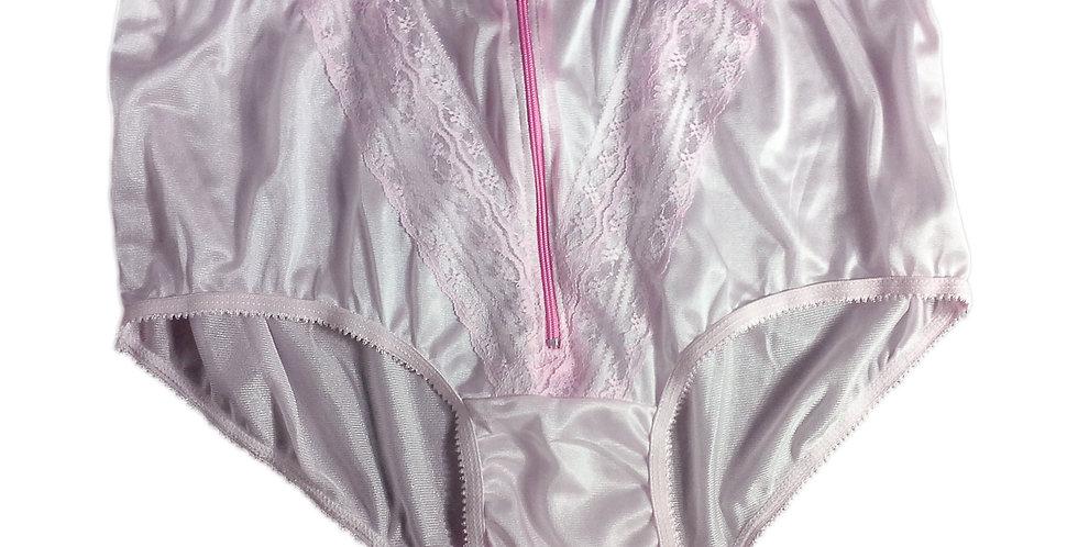 NLH03D04 Pink Panties Granny Lace Briefs Nylon Handmade  Men Woman