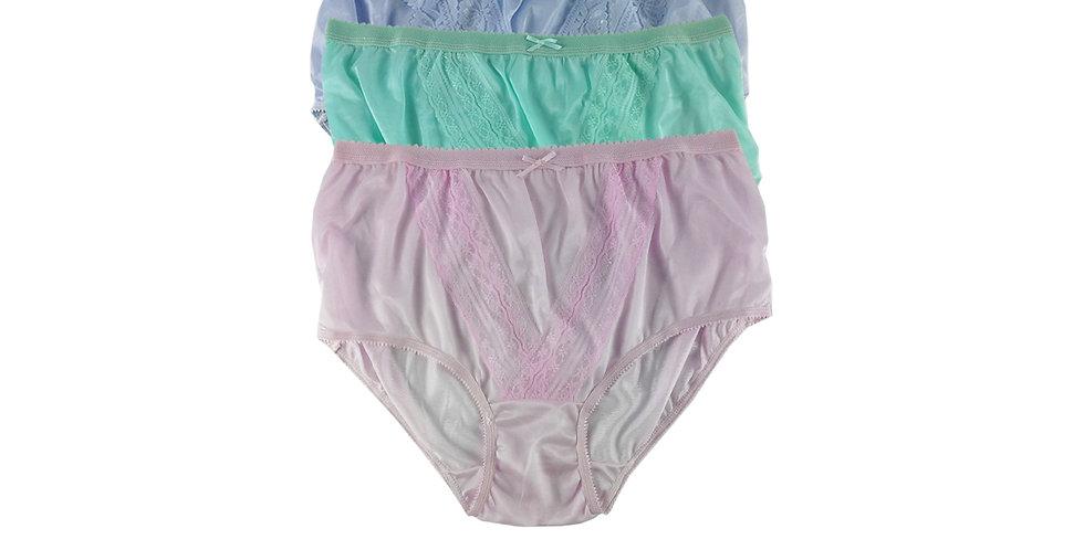 NLTH02 Lots 3 pcs Wholesale Panties Granny Lace Briefs Nylon Men Woman