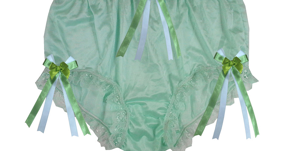 NYH18D11 Green Handmade New Panties Briefs Lace Sheer Nylon Men Women