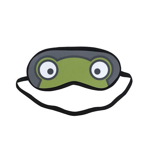 BTEM435 the Green Frog Eye Printed Sleeping Mask
