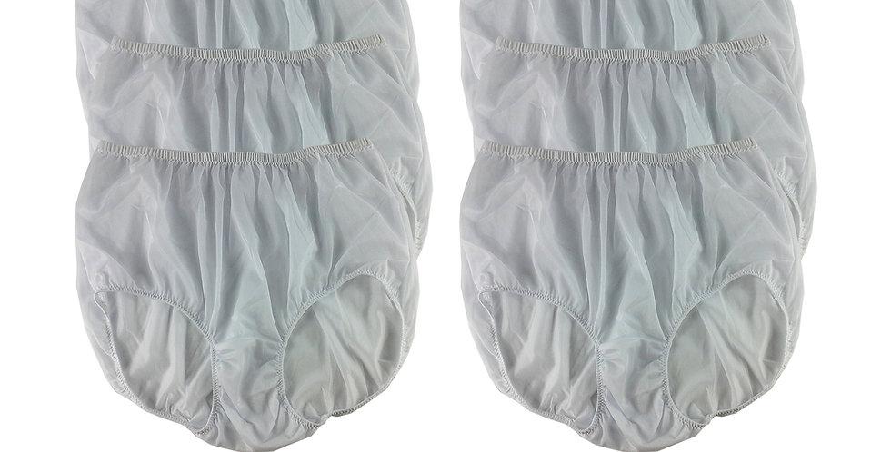 NSC14 WHITE Lots 6 pcs Wholesale Women New Panties Granny Briefs Nylon Lingerie