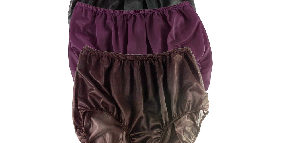 A24 Lots 3 pcs Wholesale Women New Panties Granny Briefs Nylon Knickers