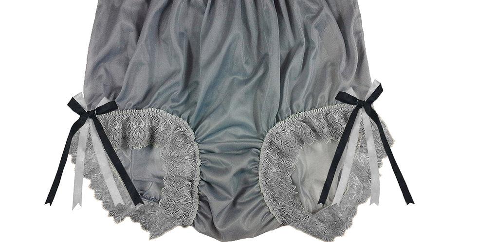 NNH17D07 Grey Gray Handmade Panties Lace Women Men Briefs Nylon Knickers