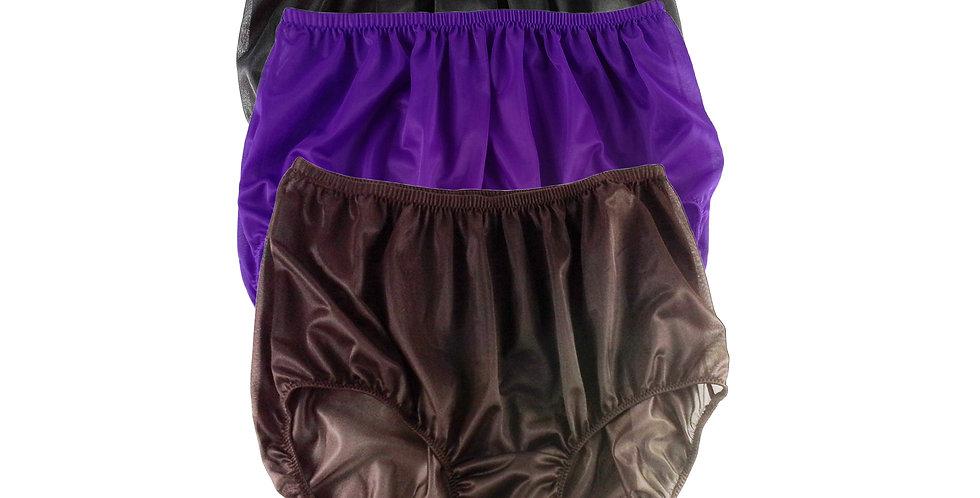 A26 Lots 3 pcs Wholesale Women New Panties Granny Briefs Nylon Knickers