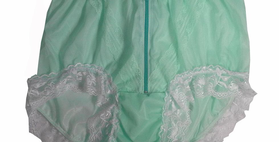 SSH09D03 Green Handmade Nylon Panties Lace Women Granny Men Briefs