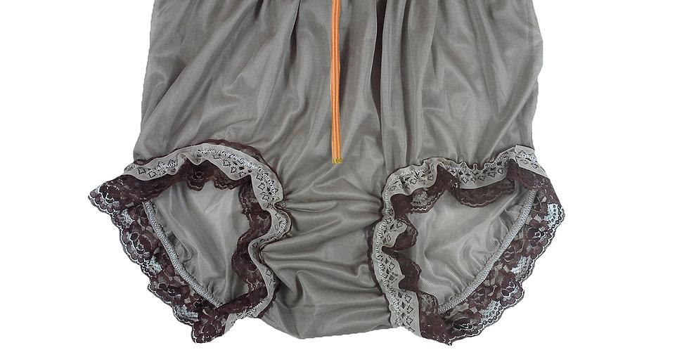 NNH23DP11 khaki Zipper Handmade Panties Lace Women Men Briefs Nylon Knickers