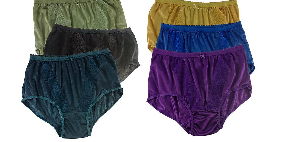 KJSJ23 Lots 6 pcs Wholesale New Panties Granny Briefs Nylon Men Women