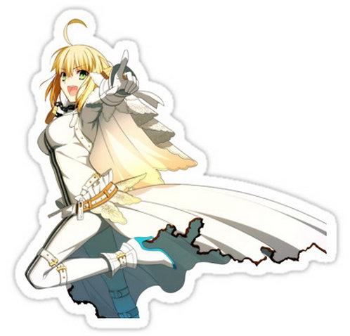 SRBB0619 saber lily II Fate/Zero (Fate Stay Night) anime sticker