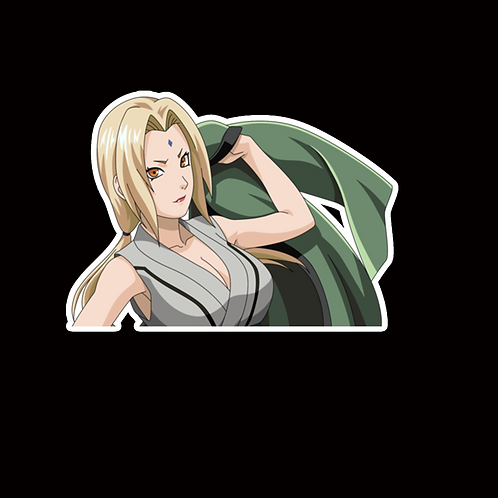 NOR229 Tsunade Naruto Peeking anime sticker Car Decal Vinyl Window