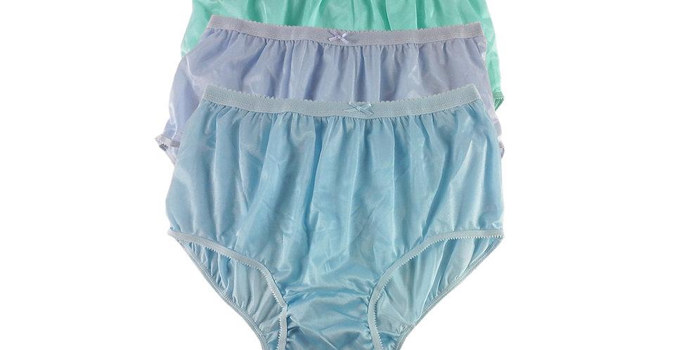 NYTF13 Lots 3 pcs New Panties Wholesale Briefs Silky Nylon Men Women