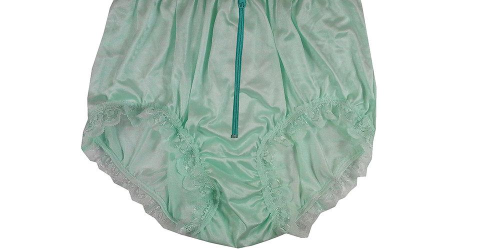 NQH19D03 Green Zipper New Panties Granny Briefs Nylon Handmade Lace Men
