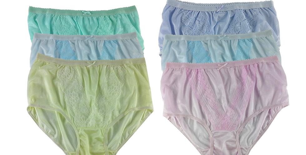 NLSG122 Lots 6 pcs Wholesale New Panties Granny Briefs Nylon Men Women