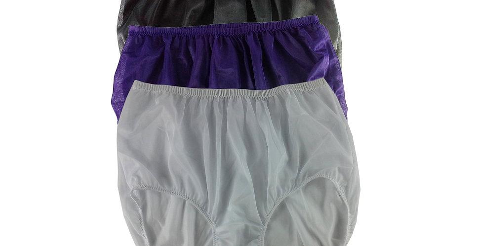 A6 Lots 3 pcs Wholesale Women New Panties Granny Briefs Nylon Knickers