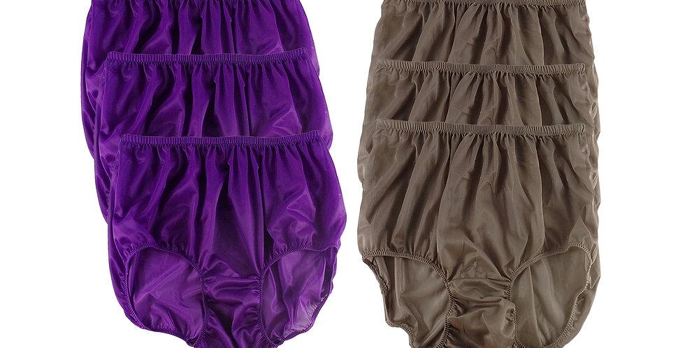 NSD72Lots 6 pcs Wholesale Women New Panties Granny Briefs Nylon Lingerie