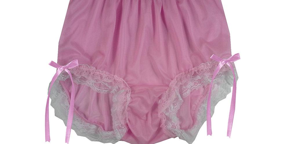 NNH21D18 Pink Handmade Panties Lace Women Men Briefs Nylon Knickers