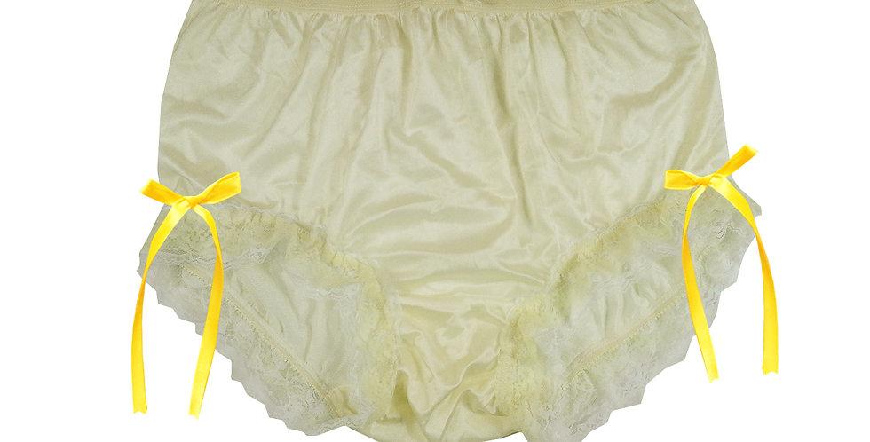 NQH21D01 Yellow New Panties Granny Briefs Nylon Handmade Lace Men