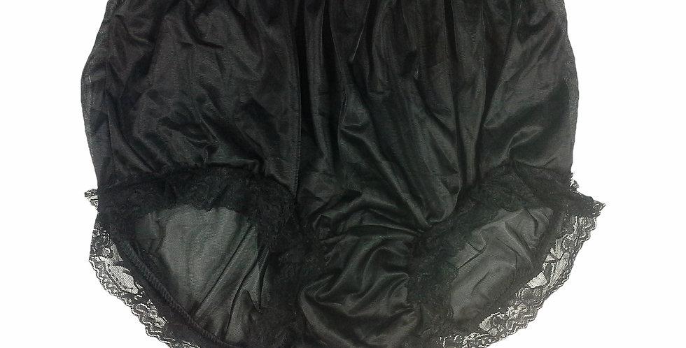 NNH07D11 black Handmade Panties Lace Women Men Briefs Nylon Knickers