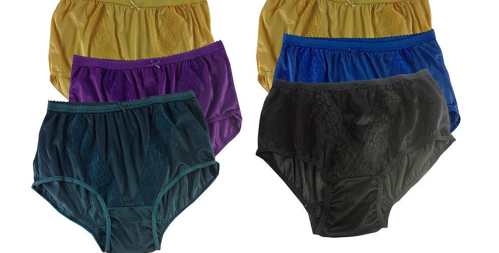 KJSJ36 Lots 6 pcs Wholesale New Panties Granny Briefs Nylon Men Women