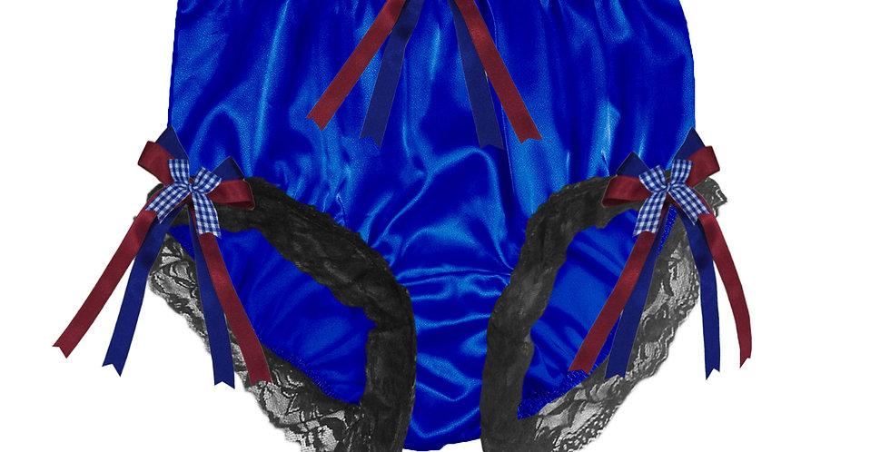STPH18D56 Royal Blue New Satin Panties Women Men Briefs Knickers
