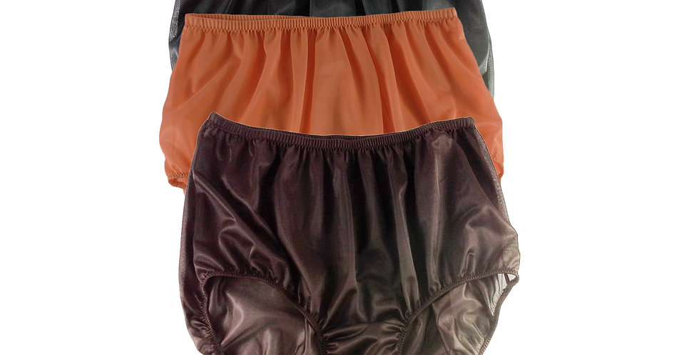 A25 Lots 3 pcs Wholesale Women New Panties Granny Briefs Nylon Knickers