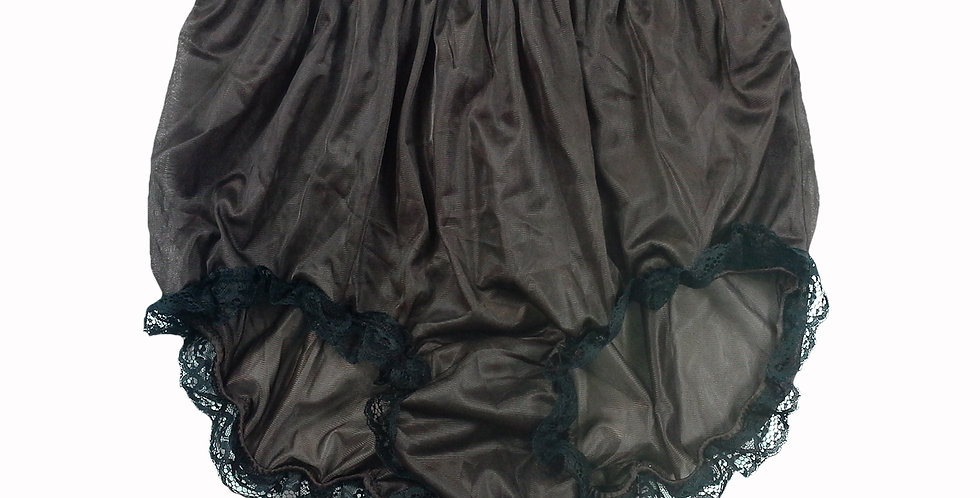 NNH08D06 Tan Brown Handmade Panties Lace Women Men Briefs Nylon Knickers