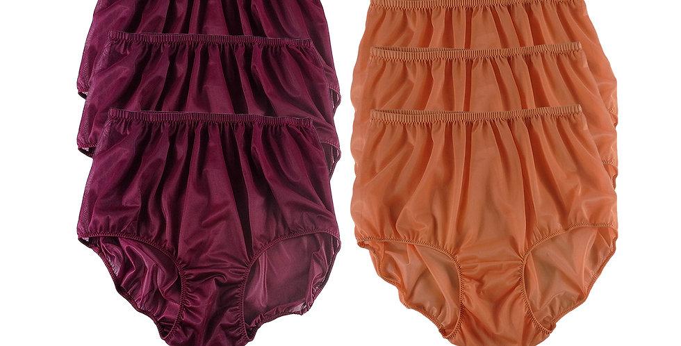 NSD66Lots 6 pcs Wholesale Women New Panties Granny Briefs Nylon Lingerie