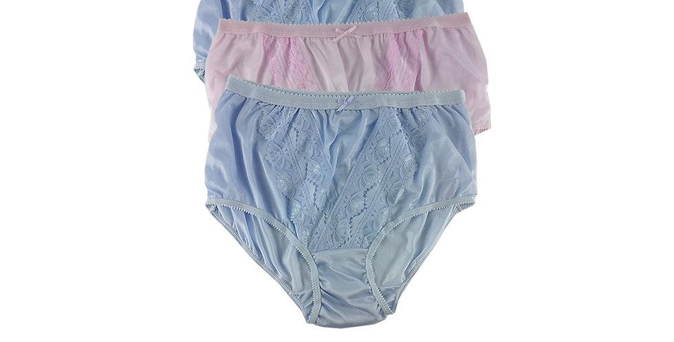 NLTH20 Lots 3 pcs Wholesale Panties Granny Lace Briefs Nylon Men Woman