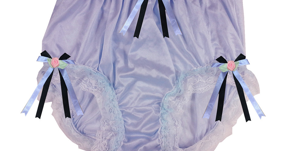 NQH22D07 Fair Purple New Panties Granny Briefs Nylon Handmade Lace Men