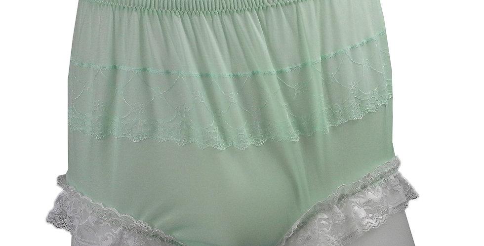 JYH01D01 Green Handmade Nylon Panties Women Men Lace Knickers Briefs