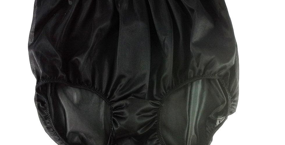 NN14 Black Women Vintage Style Panties Granny HI-CUTS Briefs  Nylon Knicker