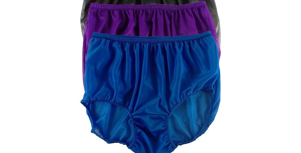 A116 Lots 3 pcs Wholesale Women New Panties Granny Briefs Nylon Knickers