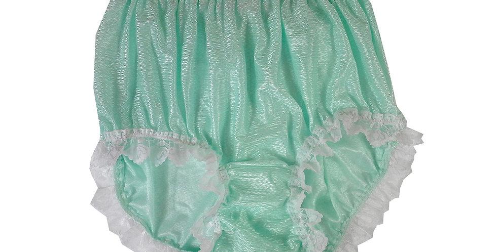 SFH24D12 Fair Green Shiny Nylon New Panties Women Men Handade Briefs