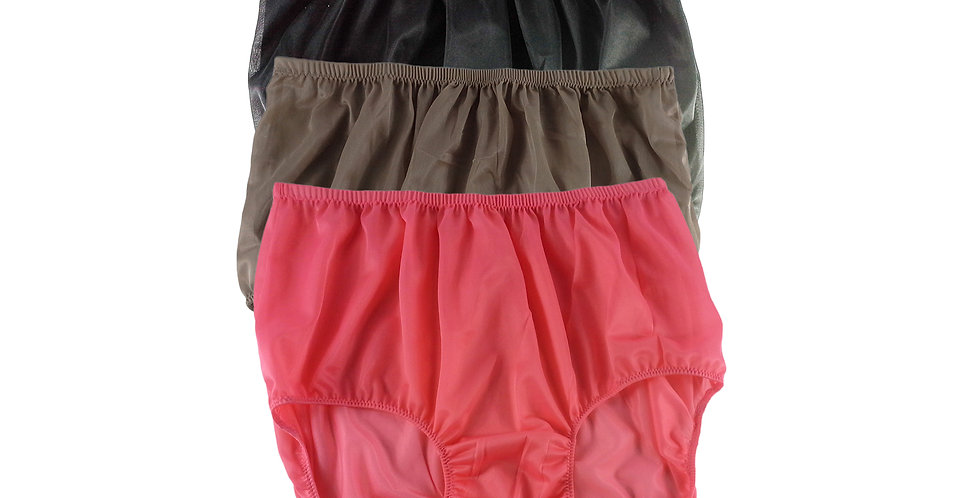 A85 Lots 3 pcs Wholesale Women New Panties Granny Briefs Nylon Knickers