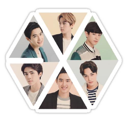 Exoception SSTK079 K-Pop Music Brand Car Window Decal Sticker