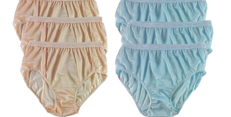 CKSL11 Lots 6 pcs Wholesale New Nylon Panties Women Undies Briefs