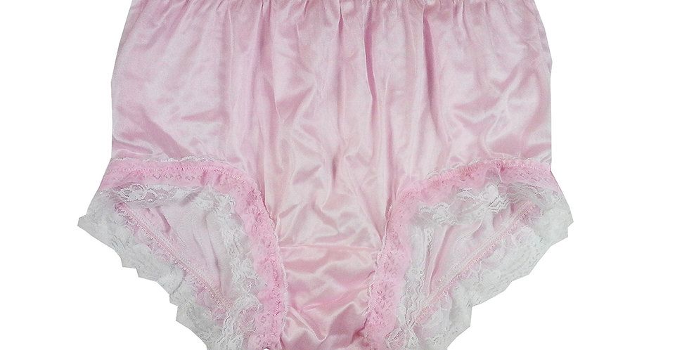 NYH05D03 Pink Handmade New Panties Briefs Lace Sheer Nylon Men Women
