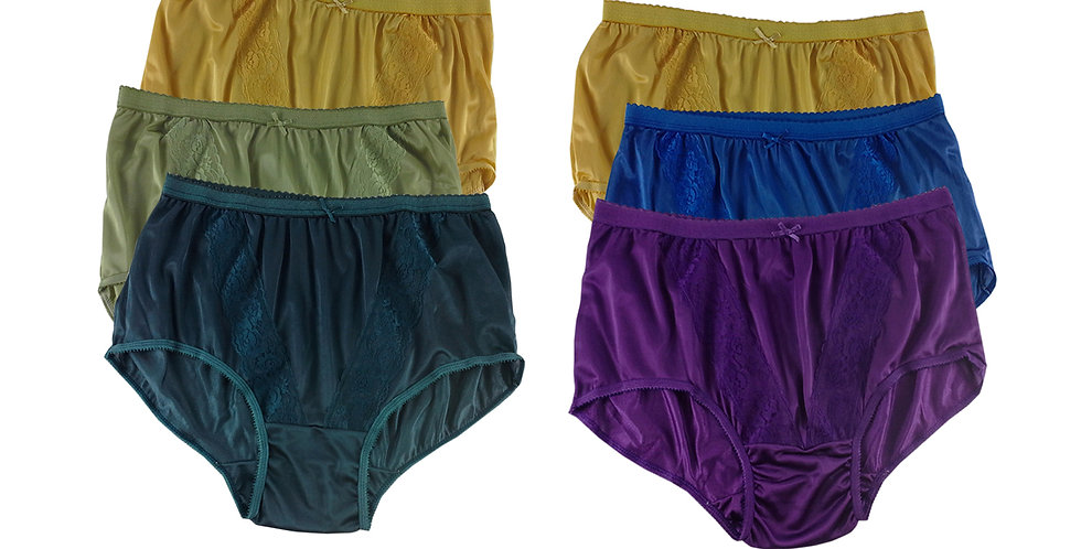 KJSJ49 Lots 6 pcs Wholesale New Panties Granny Briefs Nylon Men Women
