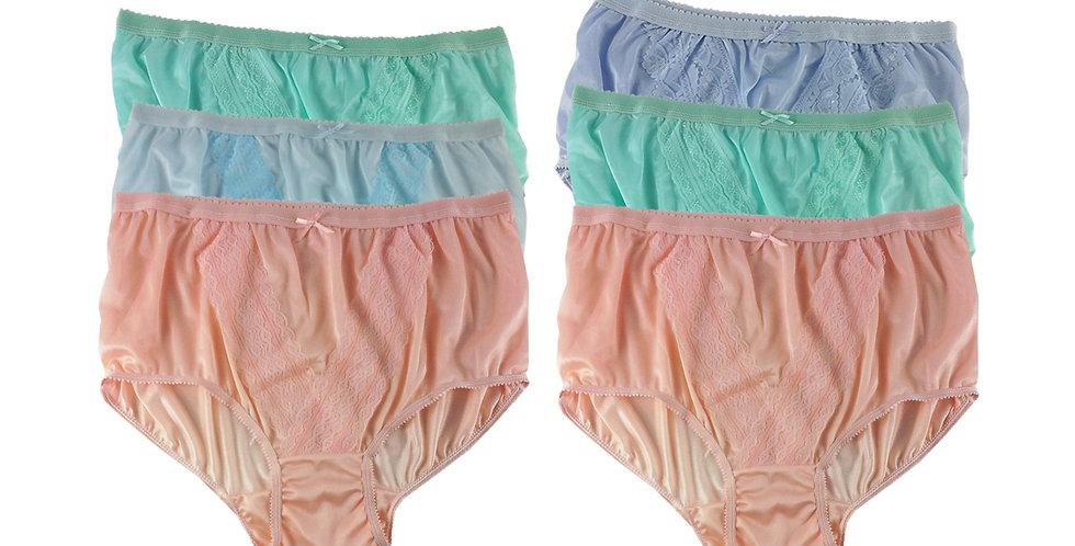 NLSG147 Lots 6 pcs Wholesale New Panties Granny Briefs Nylon Men Women