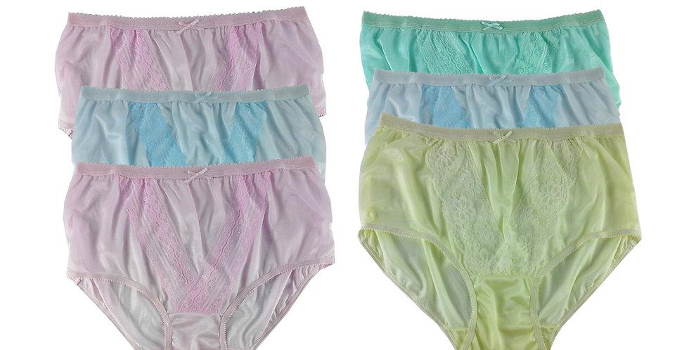 NLSG55 Lots 6 pcs Wholesale New Panties Granny Briefs Nylon Men Women