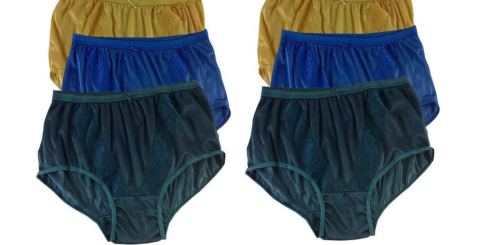 KJSJ68 Lots 6 pcs Wholesale New Panties Granny Briefs Nylon Men Women
