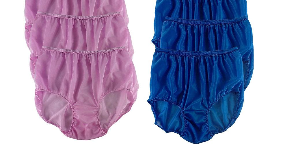NSD50Lots 6 pcs Wholesale Women New Panties Granny Briefs Nylon Lingerie