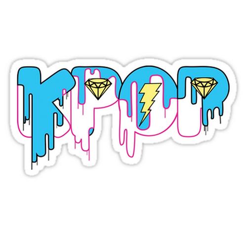 KPOP Drip Blue SSTK033 K-Pop Music Brand Car Window Decal Sticker